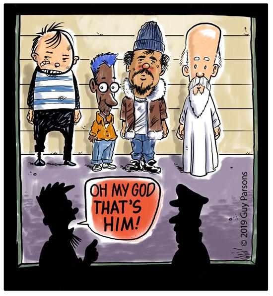 God cartoon
