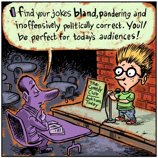 Humor about bland humor