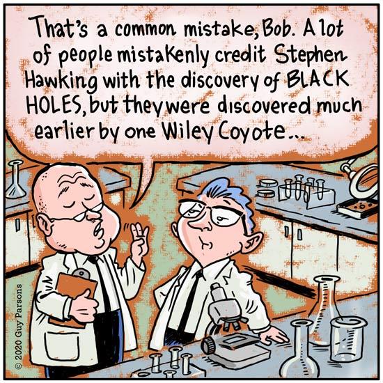 A black hole comic