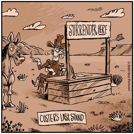 Custer's last stand cartoon