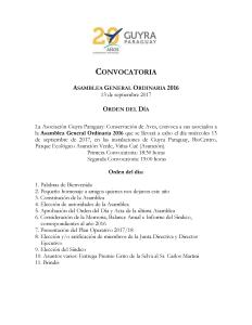 Programa Asamblea Gral. Guyra