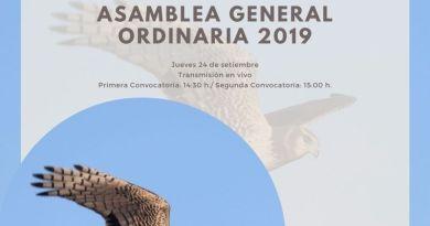 CONVOCATORIA A ASAMBLEA GENERAL ORDINARIA 2019