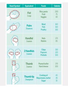 Portion control chart also what are some excellent examples of one regular rh guysandgoodhealth