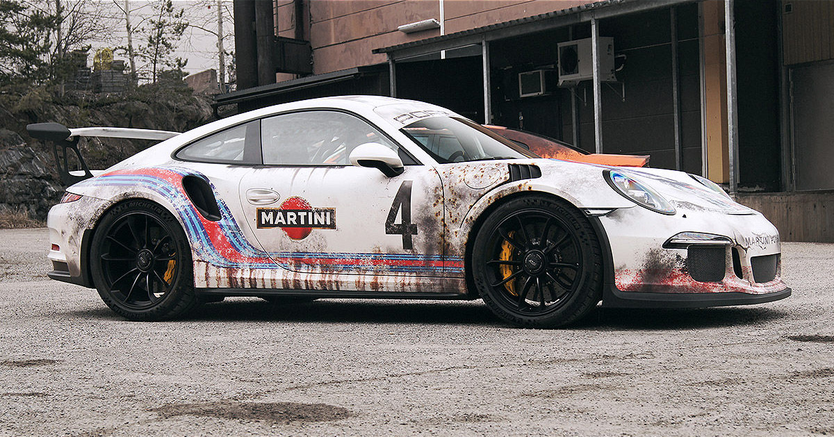 This Guy Wrapped His $175k Porsche Gt3 Rs To Look Like A