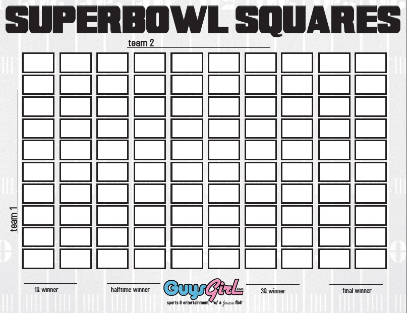football squares drinking game