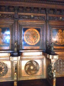 Just a small sample. In this chapel in the Museo Civico, every stall has unique inlay and carving.
