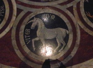A Unicorn. In mosaic. Just because.