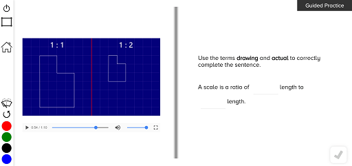 guzinta math scale drawings