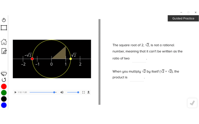 guzinta math irrational numbers