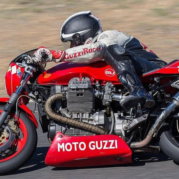 Bike is sorted. Off the the Historic Nationals. I'll probably come last but who gives a shit. I'm having the time of my life. #Guzziracer #motoguzzi #bestdayever #getmikebackonthebike