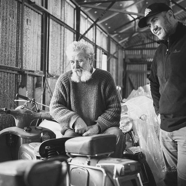 Sharing the love. At home on the farm with the legendary Teo Lamers. Looking at his collection of Moto Guzzi Galletto's. A functional motorcycle and a work of art. #motoguzzi #guzziracer #bestdayever