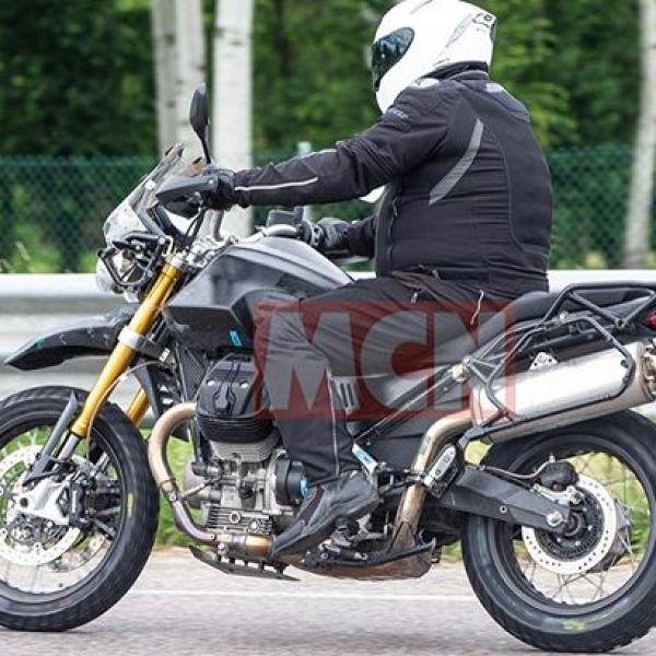 It's real! The Moto Guzzi V85 Adventure Bike spotted in testing #guzziraceraus #motoguzzi #motoguzziv85 #adventurerider #mcn