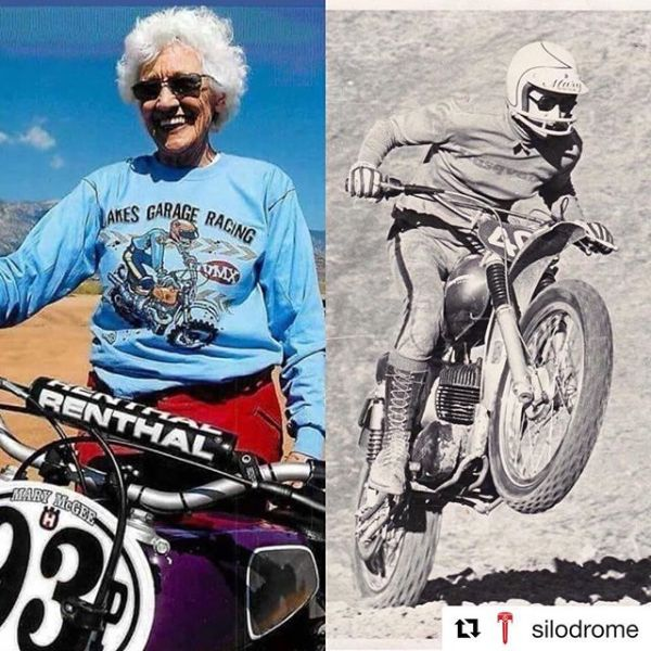 #Repost @silodrome  The legendary Mary McGee was inducted today into the Motorcycle Hall of Fame. ️ She was one of the very first women to race in both on and off-road motorcycle competition in the USA, and she's still going strong today. ️ #marymcgee #race #guzziraceraus