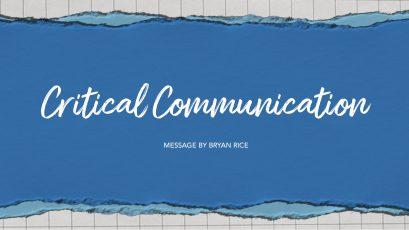 Critical Communication