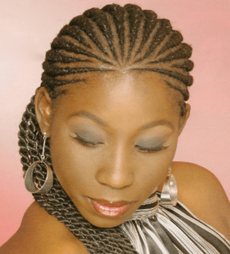 African cornrow braids