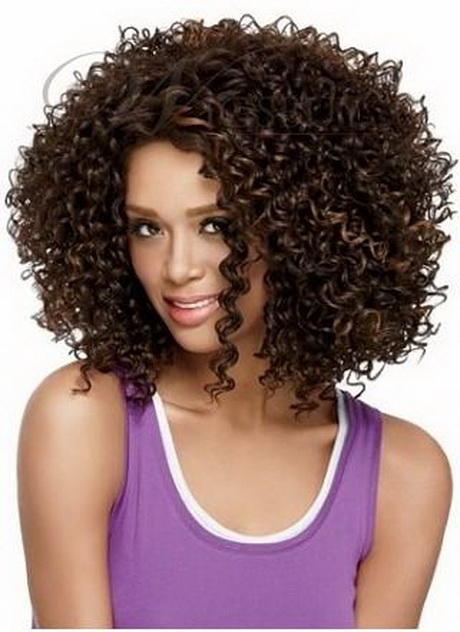 Afro curly hairstyles