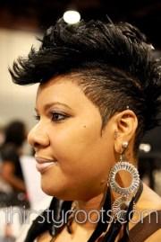 black mohawk hairstyles women