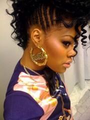 braided mohawk hairstyles black
