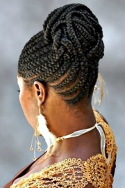 braided updo hairstyles black