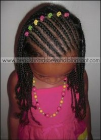 Cornrows And Beads Side View   Short Hairstyle 2013