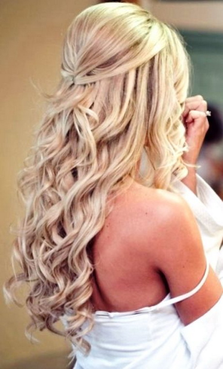 Bridal hairstyles for long hair down