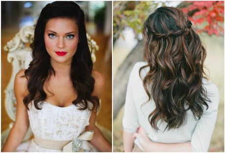 bridal hairstyles for long hair half up