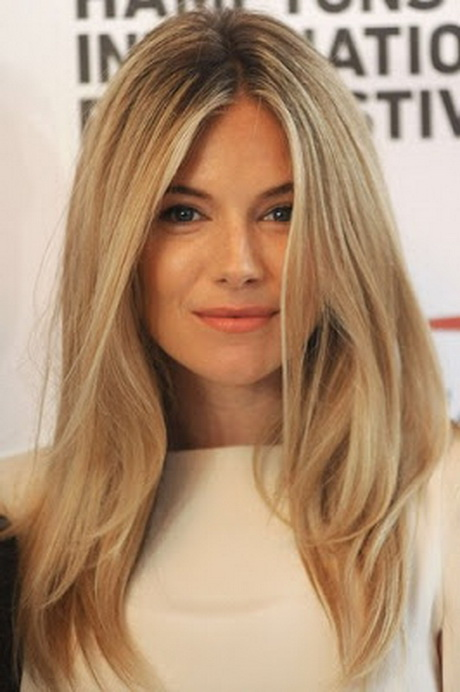 Celebrities with long layered hair