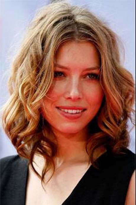 Curly medium length hairstyles 2015