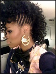 curly mohawk hairstyles black