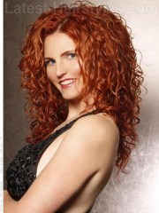 curly red hairstyles