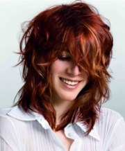 curly shaggy hairstyles women
