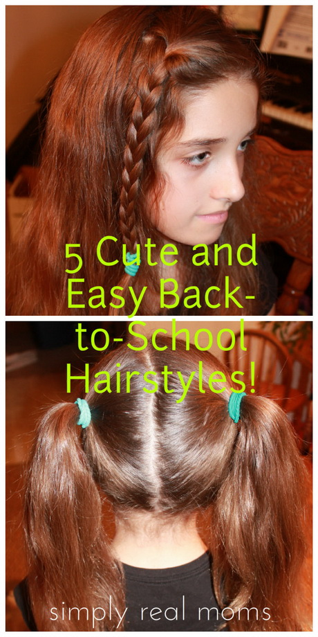 Cute school hairstyles for short hair
