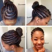 flat twist hairstyles black