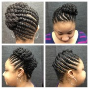 silky flat twist hairstyles