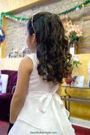 flower girl hairstyles long
