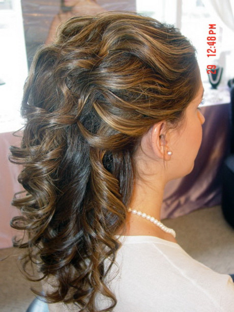 Hair up or down for wedding