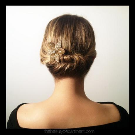 hair up styles for short hair