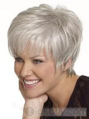 hairstyles short gray hair