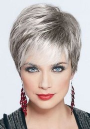 hairstyles short grey hair