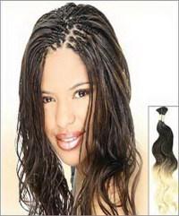 Human Hair Individual Braids  Triple Weft Hair Extensions