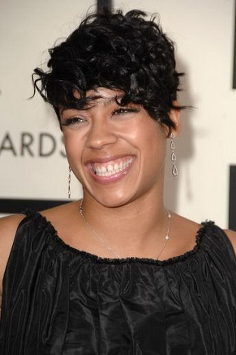 Keyshia Cole Short Curly Hairstyles