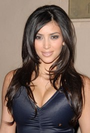 kim kardashian haircut long layers
