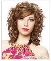 layered haircuts curly hair