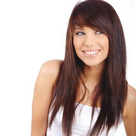 layered long haircuts with side bangs