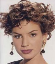 layered short curly hairstyles
