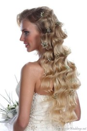long curly bridal hairstyles