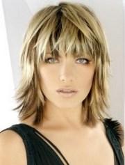 medium choppy hairstyles with bangs