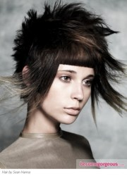 medium punk hairstyles
