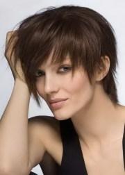 messy short hairstyles women
