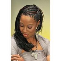 Micro braids hair